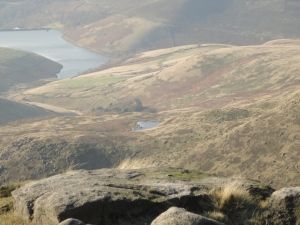 Reservoir and the Mermaid's pool from Kinder Downfall