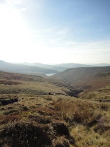 View back down William Clough to the reservoir