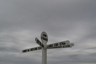 Fairly bleak day at John O'Groats...